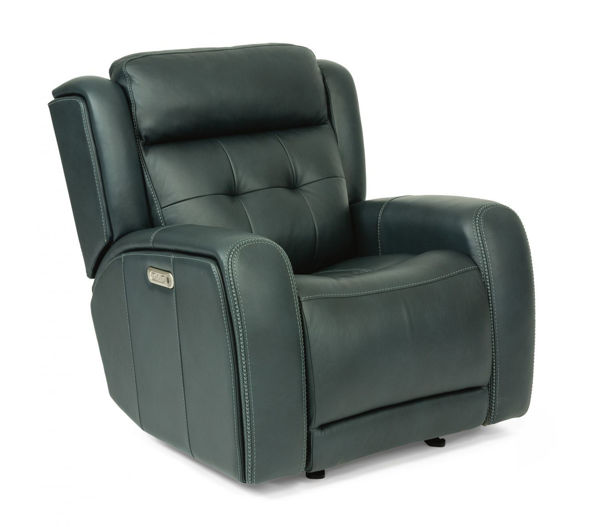 Picture of GRANT LEATHER POWER GLIDING RECLINER