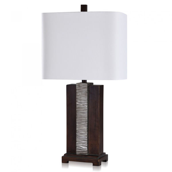 Picture of DARK POLY TABLE LAMP