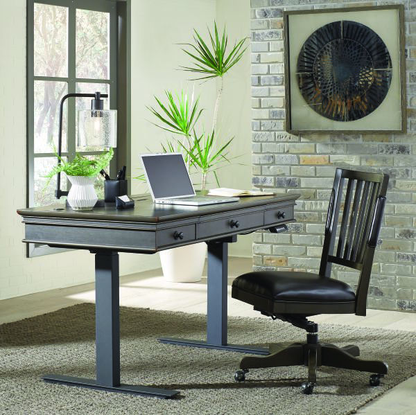 """Picture of OXFORD PEPPERCORN 60"""" ADJUSTABLE DESK"""