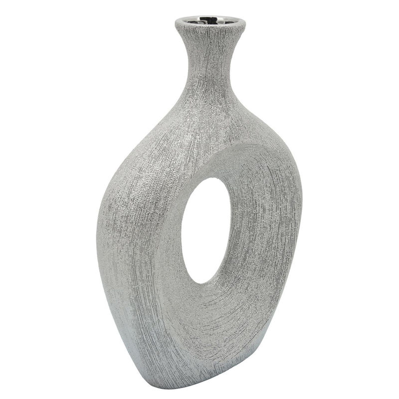 Picture of SILVER BEADED OVAL VASE