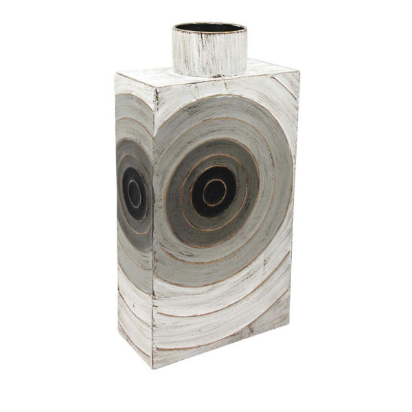 Picture of GRAY METAL BOX VASE